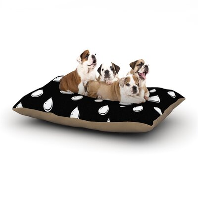 Suzanne Carter Raindrops Dog Pillow with Fleece Cozy Top Size: Large (50 W x 40 D x 8 H)
