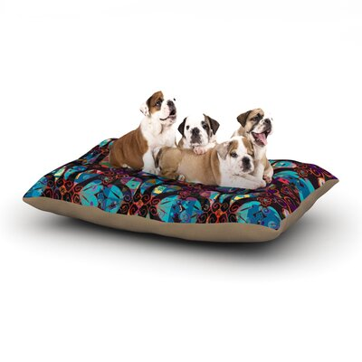 Suzanne Carter Pattern Abstract Dog Pillow with Fleece Cozy Top Size: Small (40 W x 30 D x 8 H)