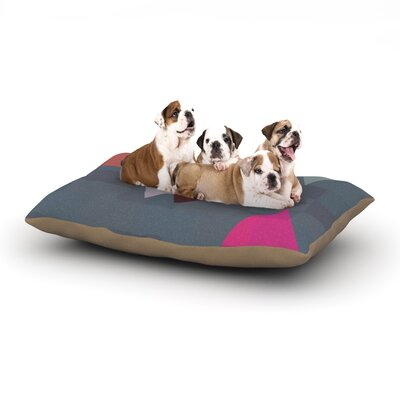 Suzanne Carter Geo II Geometric Dog Pillow with Fleece Cozy Top Size: Large (50 W x 40 D x 8 H)