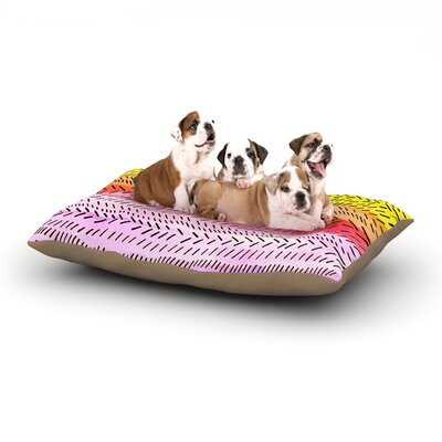 Sreetama Ray Sunshine Warm Paint Dog Pillow with Fleece Cozy Top Size: Small (40 W x 30 D x 8 H)
