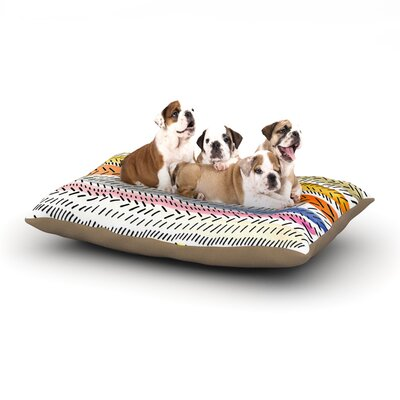 Sreetama Ray Dash 3 Dashed Paint Dog Pillow with Fleece Cozy Top Size: Large (50 W x 40 D x 8 H)
