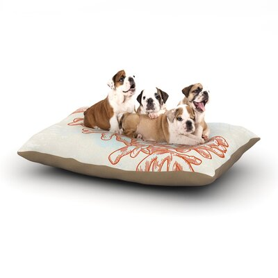 Sam Posnick Finger Coral Dog Pillow with Fleece Cozy Top Size: Large (50 W x 40 D x 8 H)