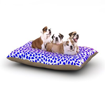 Sreetama Ray Aqua Arrows Dog Pillow with Fleece Cozy Top Size: Large (50 W x 40 D x 8 H)