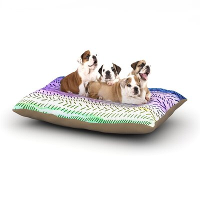 Sreetama Ray Aqua Cool Paint Dog Pillow with Fleece Cozy Top Size: Small (40 W x 30 D x 8 H)