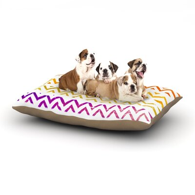 Sreetama Ray Chevron Add Warm Chevrons Dog Pillow with Fleece Cozy Top Size: Small (40 W x 30 D x 8 H)