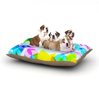 Sreetama Ray Seasons Springtime Leaves Dog Pillow with Fleece Cozy Top Size: Large (50 W x 40 D x 8 H)