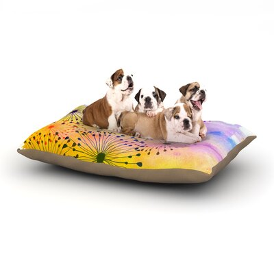 Sreetama Ray Bursting Blossoms Dog Pillow with Fleece Cozy Top Size: Large (50 W x 40 D x 8 H)