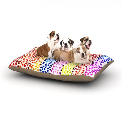 Sreetama Ray Rainbow Arrows Dog Pillow with Fleece Cozy Top Size: Large (50 W x 40 D x 8 H)