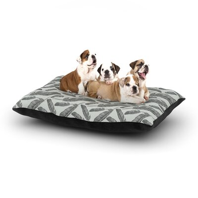 Sam Posnick Feather Scene Dog Pillow with Fleece Cozy Top Size: Small (40 W x 30 D x 8 H)