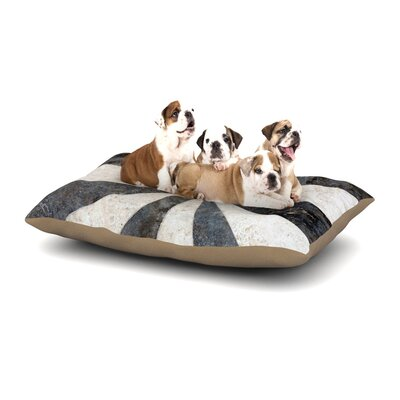 Susan Sanders Stripe Love Dog Pillow with Fleece Cozy Top Size: Small (40 W x 30 D x 8 H)