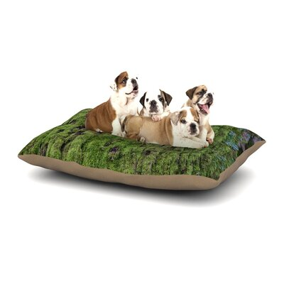 Susan Sanders Emerald Moss Nature Dog Pillow with Fleece Cozy Top Size: Small (40 W x 30 D x 8 H)