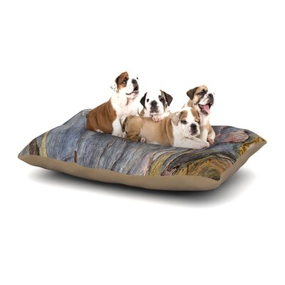 Susan Sanders Milky Wood Dog Pillow with Fleece Cozy Top Size: Large (50 W x 40 D x 8 H)
