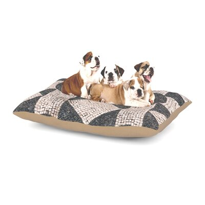 Susan Sanders Mosaic Dog Pillow with Fleece Cozy Top Size: Large (50 W x 40 D x 8 H)