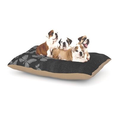 Snap Studio Butterflies IV Chalk Dog Pillow with Fleece Cozy Top Size: Large (50 W x 40 D x 8 H)