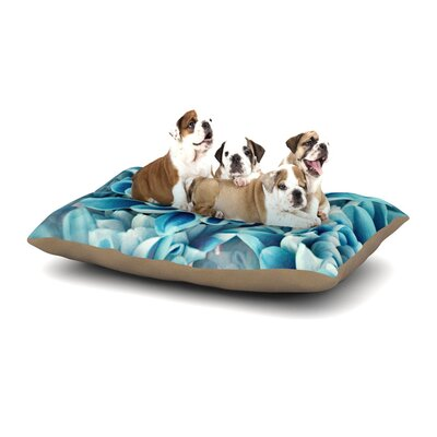 Susan Sanders Floral Paradise Flower Dog Pillow with Fleece Cozy Top Size: Large (50 W x 40 D x 8 H)