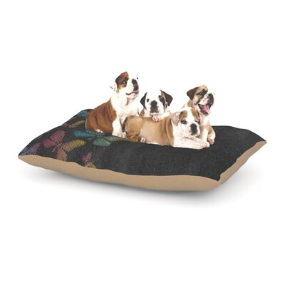 Snap Studio Butterflies Pastel Chalk Dog Pillow with Fleece Cozy Top Size: Small (40 W x 30 D x 8 H)