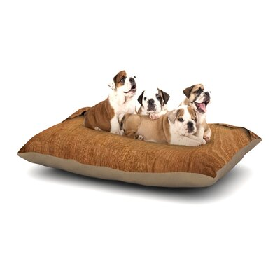 Susan Sanders Natural Wood Rustic Nature Dog Pillow with Fleece Cozy Top Size: Large (50 W x 40 D x 8 H)