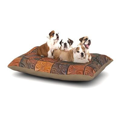 Susan Sanders Whimsy Tile Rustic Dog Pillow with Fleece Cozy Top Size: Large (50 W x 40 D x 8 H)