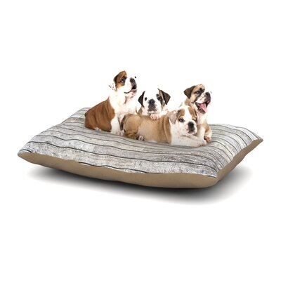 Susan Sanders Wooden Walk Dog Pillow with Fleece Cozy Top Size: Large (50 W x 40 D x 8 H)
