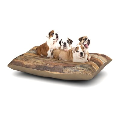 Susan Sanders Campfire Wood Rustic Dog Pillow with Fleece Cozy Top Size: Large (50 W x 40 D x 8 H)