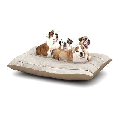Susan Sanders White Wash Wood Dog Pillow with Fleece Cozy Top Size: Small (40 W x 30 D x 8 H)