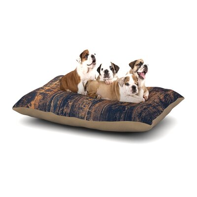 Susan Sanders Barn Floor Rustic Dog Pillow with Fleece Cozy Top Size: Small (40 W x 30 D x 8 H)
