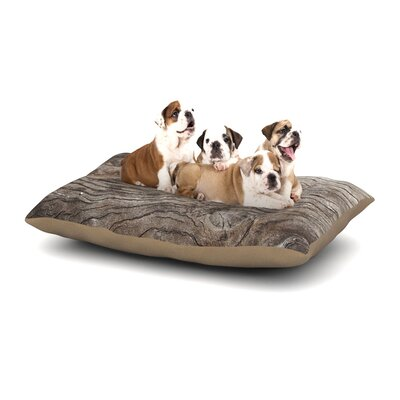 Susan Sanders Tree Bark Wooden Dog Pillow with Fleece Cozy Top Size: Small (40 W x 30 D x 8 H)