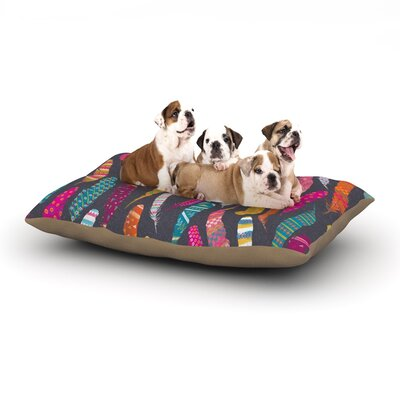 Skye Zambrana Flight Dog Pillow with Fleece Cozy Top Size: Small (40 W x 30 D x 8 H)