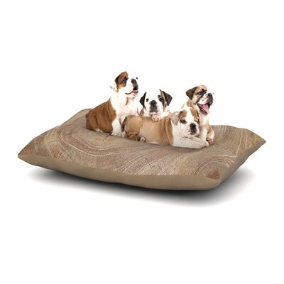 Susan Sanders Aging Tree Wooden Dog Pillow with Fleece Cozy Top Size: Large (50 W x 40 D x 8 H)