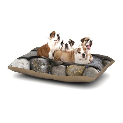 Susan Sanders Skipping Stone Rocks Dog Pillow with Fleece Cozy Top Size: Large (50 W x 40 D x 8 H)