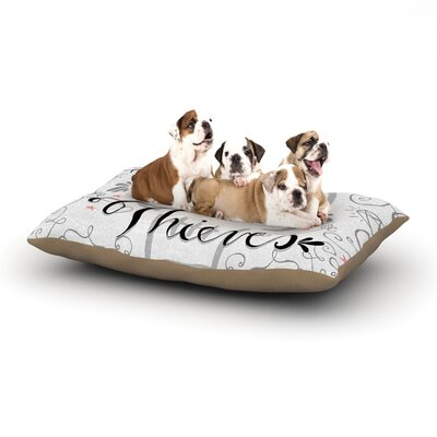 Skye Zambrana Thick as Thieves Dog Pillow with Fleece Cozy Top Size: Large (50 W x 40 D x 8 H)