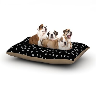 Skye Zambrana Watercolor Dots Dog Pillow with Fleece Cozy Top Size: Large (50 W x 40 D x 8 H)