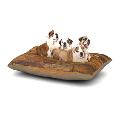 Susan Sanders Woodstock Dog Pillow with Fleece Cozy Top Size: Small (40 W x 30 D x 8 H)