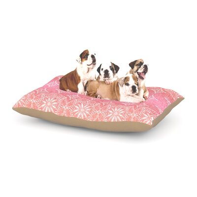 Suzie Tremel Medallion Ombre Dog Pillow with Fleece Cozy Top Size: Small (40 W x 30 D x 8 H), Color: Pink/Red