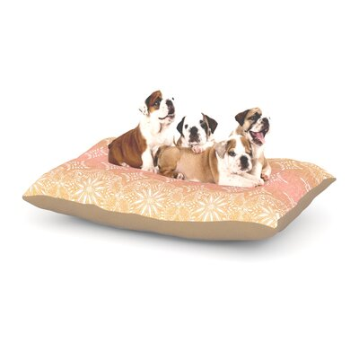 Suzie Tremel Medallion Ombre Dog Pillow with Fleece Cozy Top Size: Small (40 W x 30 D x 8 H), Color: Pink