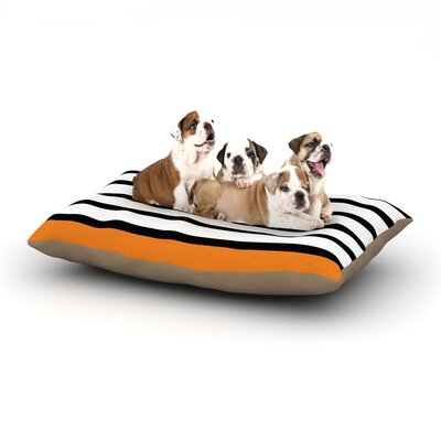 Trebam Sest Redaka Dog Pillow with Fleece Cozy Top Size: Large (50 W x 40 D x 8 H), Color: Orange/Tangerine