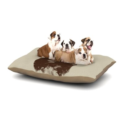 Tobe Fonseca In Love Bear Dog Pillow with Fleece Cozy Top Size: Small (40 W x 30 D x 8 H)