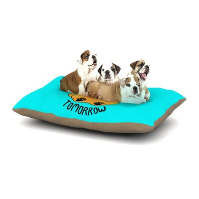 Tobe Fonseca Diet Starts Tomorrow Cat Dog Pillow with Fleece Cozy Top Size: Small (40 W x 30 D x 8 H)