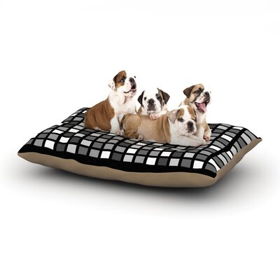 Trebam 'Plocica' Grid Dog Pillow with Fleece Cozy Top Size: Small (40