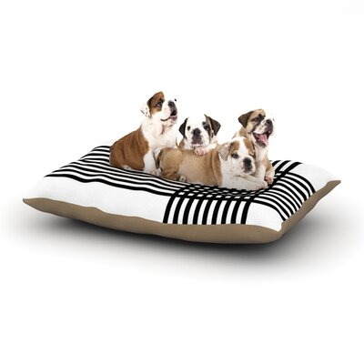Trebam Krizanje Minimal Lines Dog Pillow with Fleece Cozy Top Size: Small (40 W x 30 D x 8 H)
