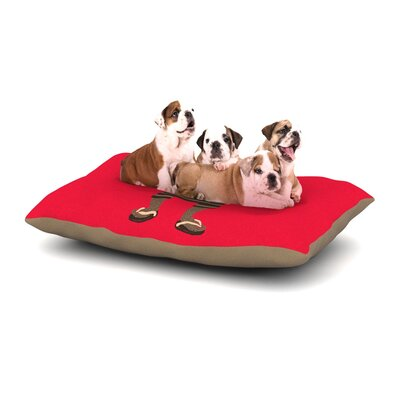 Tobe Fonseca Vacation Dog Pillow with Fleece Cozy Top Size: Small (40 W x 30 D x 8 H)