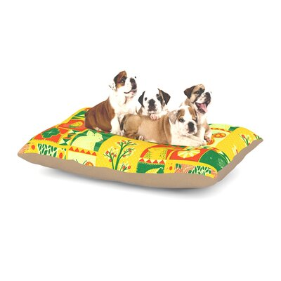 Tobe Fonseca Spring Seasonal Dog Pillow with Fleece Cozy Top Size: Small (40 W x 30 D x 8 H)