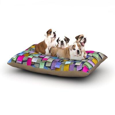 Trebam Respekt Paper Dog Pillow with Fleece Cozy Top Size: Large (50 W x 40 D x 8 H)