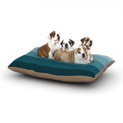 Trebam Cijan Dog Pillow with Fleece Cozy Top Size: Large (50 W x 40 D x 8 H)