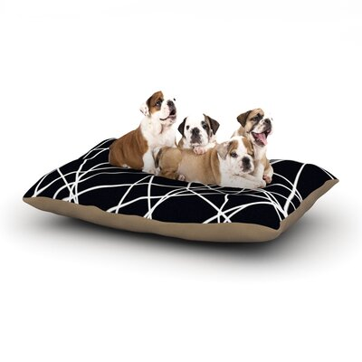 Trebam Paucina Crazy Lines Dog Pillow with Fleece Cozy Top Size: Large (50 W x 40 D x 8 H)
