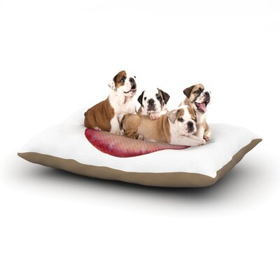 Theresa Giolzetti Radish Dog Pillow with Fleece Cozy Top Size: Small (40 W x 30 D x 8 H)