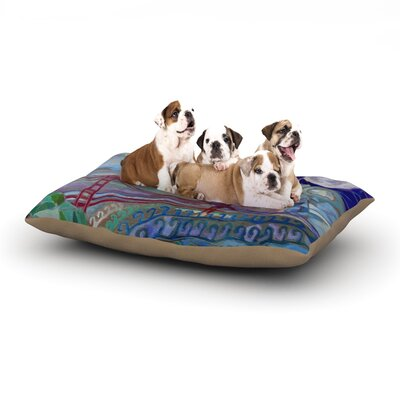 Theresa Giolzetti San Fran Dog Pillow with Fleece Cozy Top Size: Large (50 W x 40 D x 8 H)