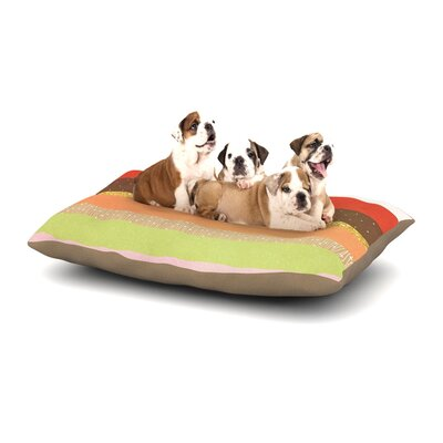 Strawberringo Mix Hodge Podge Dog Pillow with Fleece Cozy Top Size: Small (40 W x 30 D x 8 H)
