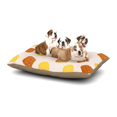 Strawberringo Do You Love Biscuits? Dog Pillow with Fleece Cozy Top Size: Large (50 W x 40 D x 8 H)