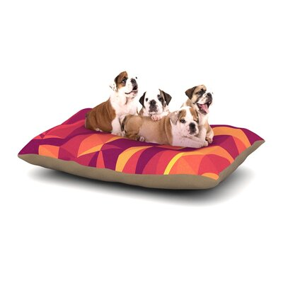 Strawberringo Abstract Mountains Abstract Dog Pillow with Fleece Cozy Top Size: Small (40 W x 30 D x 8 H)
